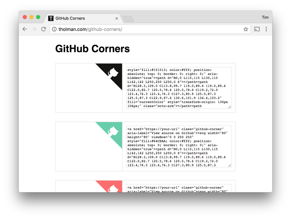 The github corner in sketch